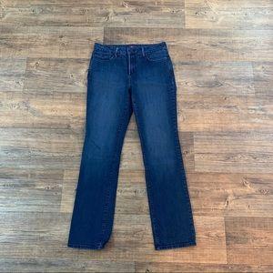 NYDJ Straight Leg Dark Wash Jeans Size 10!